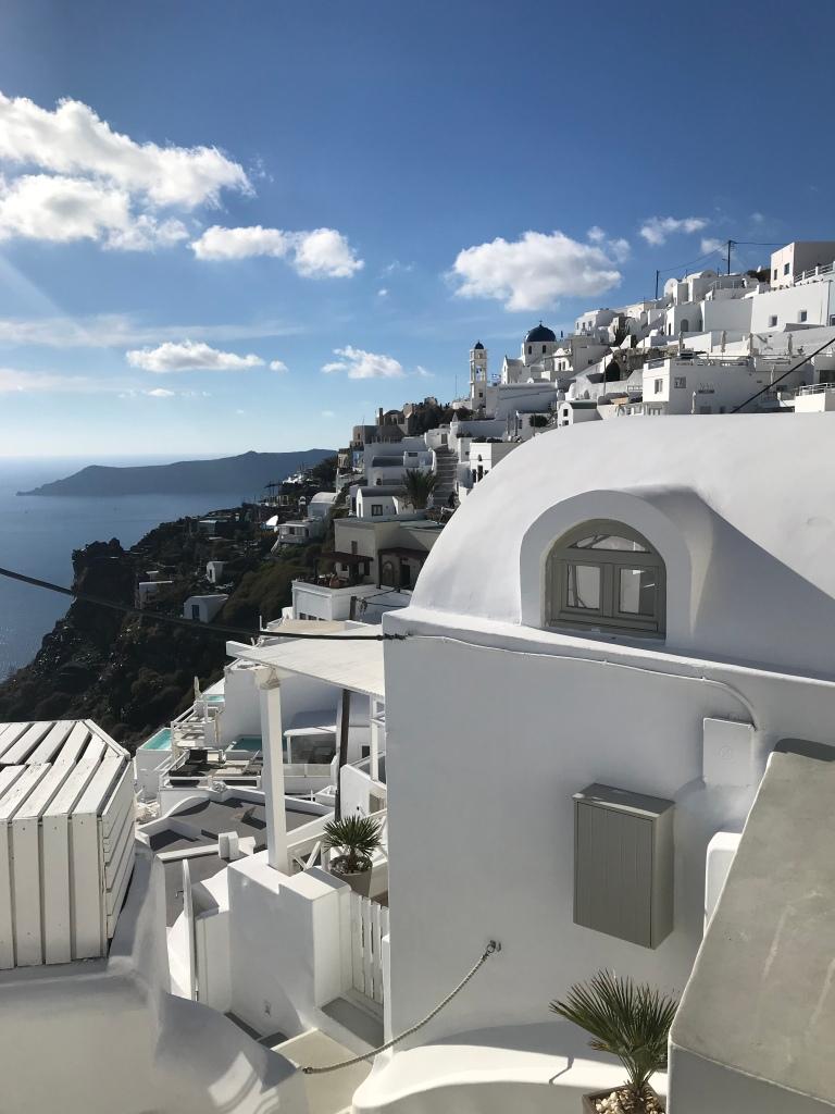 Solo female travel Santorini Greece
