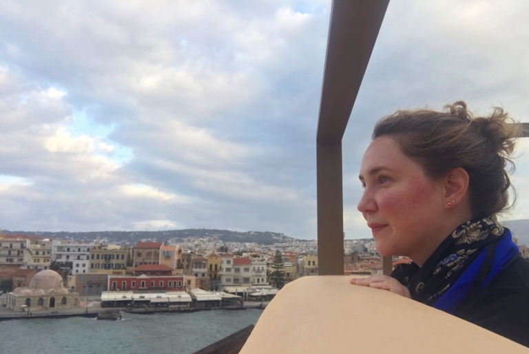 Me atop the Chania, Crete rooftops