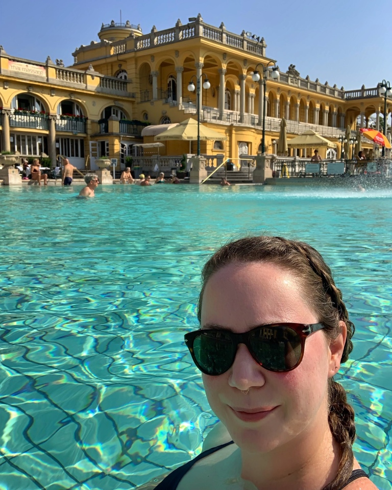 Szeceny Thermal baths in Budapest Hungary