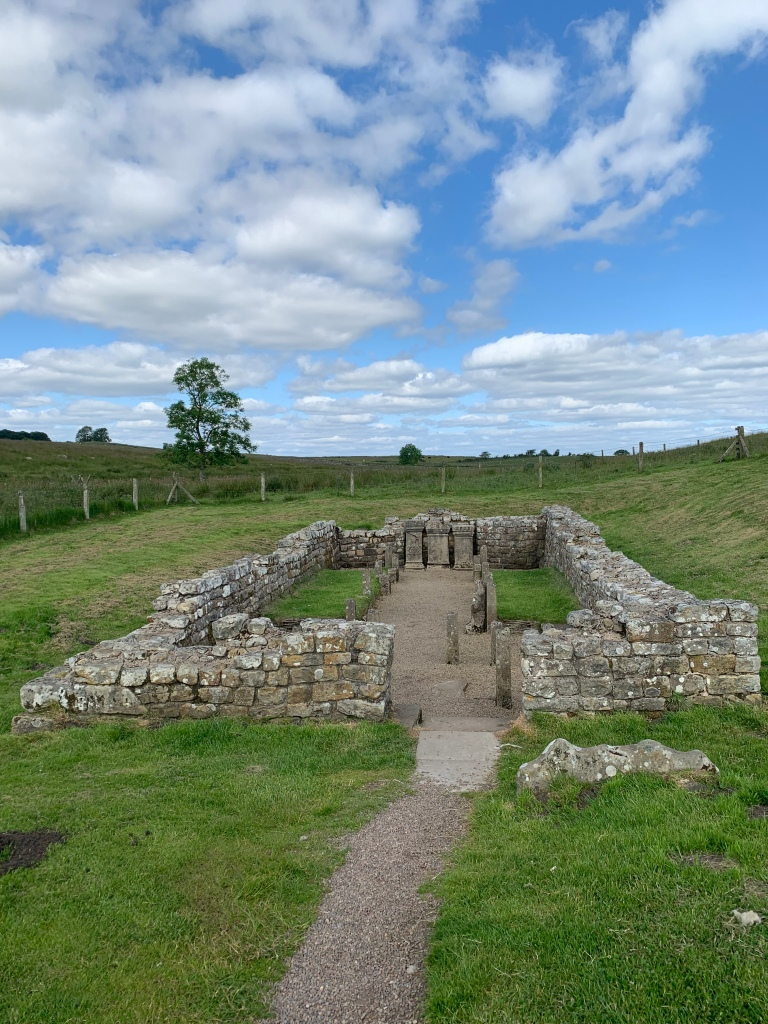 Ancient Roman fort in Britain along Hadrian's Wall