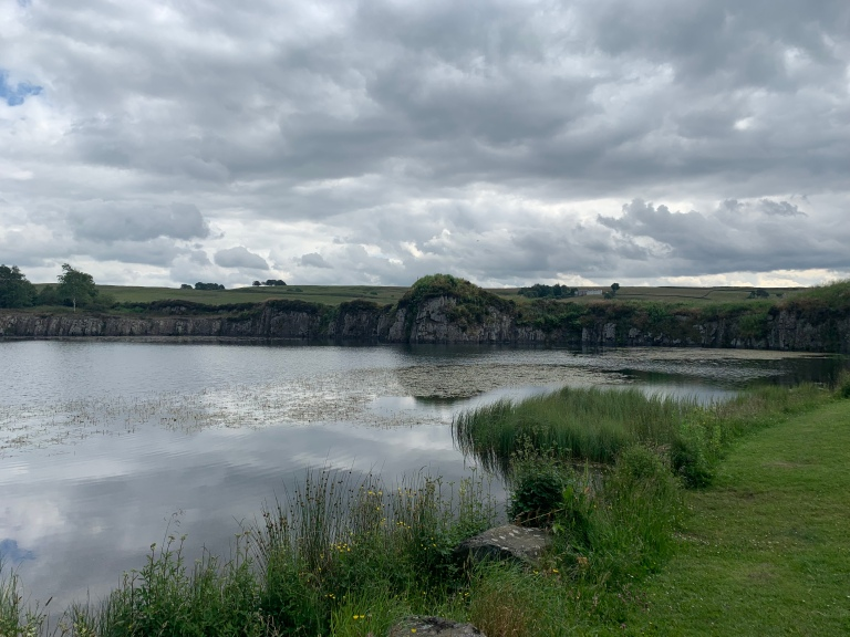 Lake on the ancient Hadrian's Wall walk in England ancient Romans in Britain