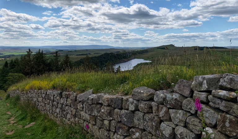 Walking Hadrian's Wall in England Northumberland solo travel National Trust Trail