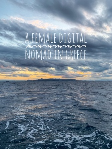 a female digital nomad in Athens, Greece